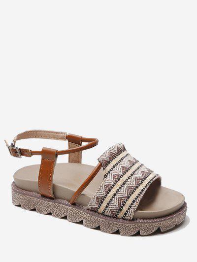 14e459095067 Vintage Tribal Printed Sandals - Khaki Eu 35 ...