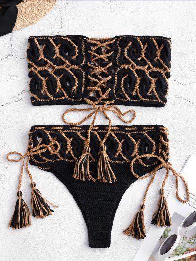3b9478e6456 Crochet Bikinis & Swimsuits Top | Black, White, High Waisted ...