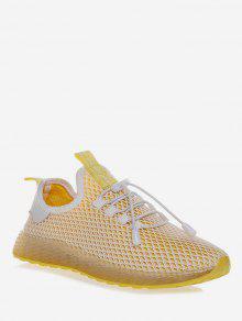 الدانتيل متابعة تصميم الأحذية الرياضية تنفس - الأصفر الاتحاد الأوروبي 36