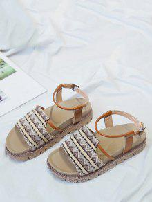 6e9e1e001 22% OFF   POPULAR  2019 Vintage Tribal Printed Sandals In KHAKI