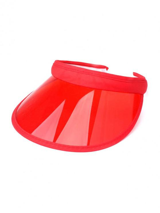 trendy Candy Color Transparent Visor Cap - RED