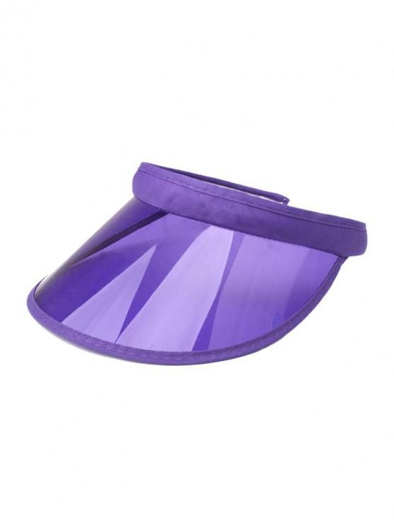 womens Candy Color Transparent Visor Cap - PURPLE