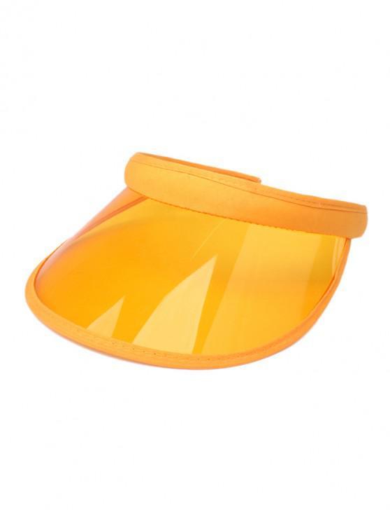 ladies Candy Color Transparent Visor Cap - SUN YELLOW