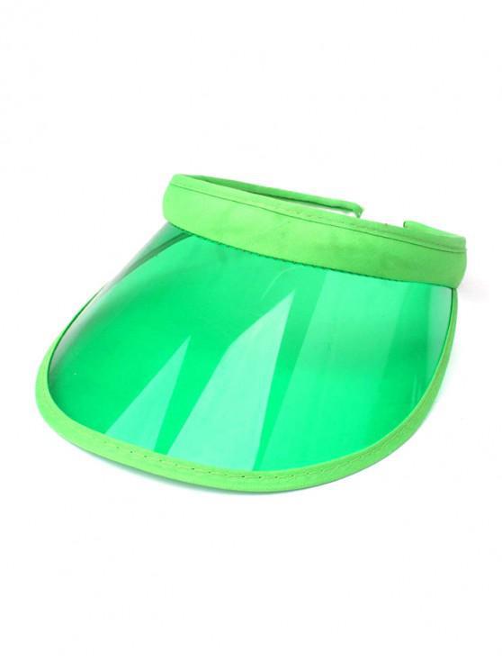 online Candy Color Transparent Visor Cap - GREEN