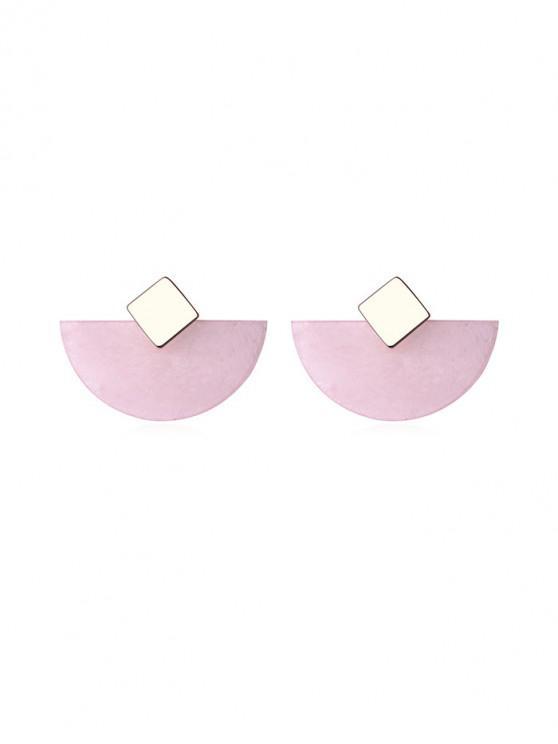 shops Geometric Semicircle Stud Earrings - PINK