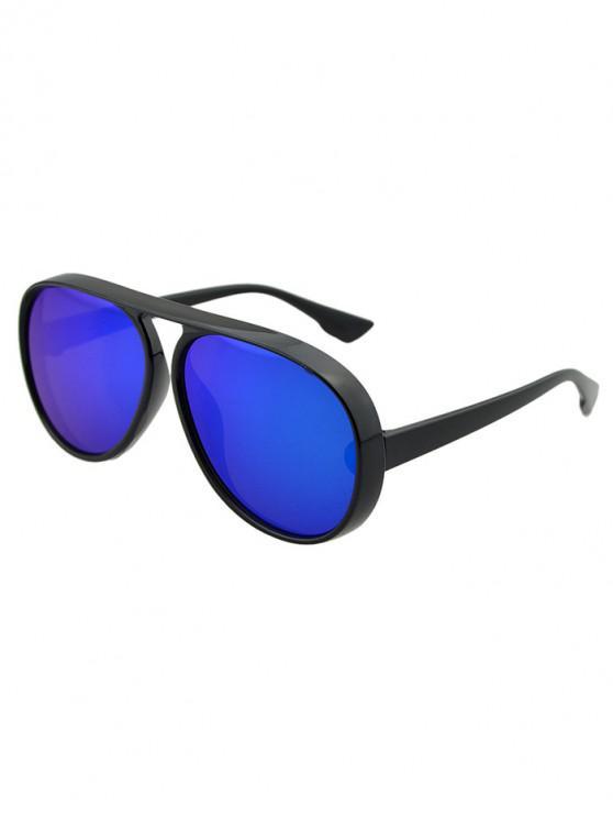 buy Oversized Thick Rim Pilot Sunglasses - LIGHT AQUAMARINE
