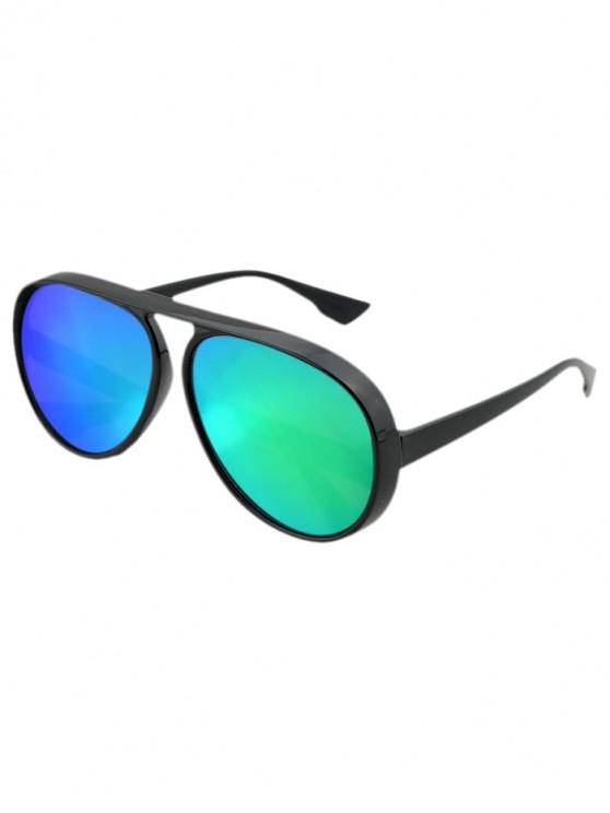 women's Oversized Thick Rim Pilot Sunglasses - GREEN