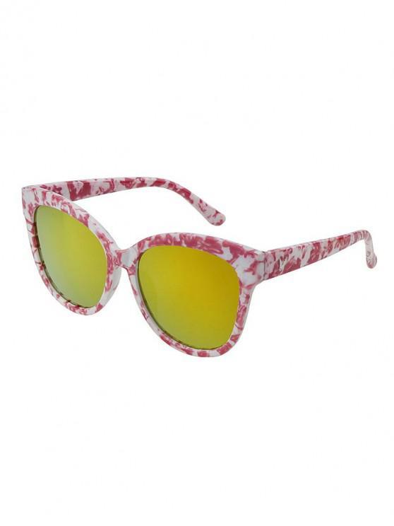 new Marbling Square Mirror Sunglasses - TIGER ORANGE