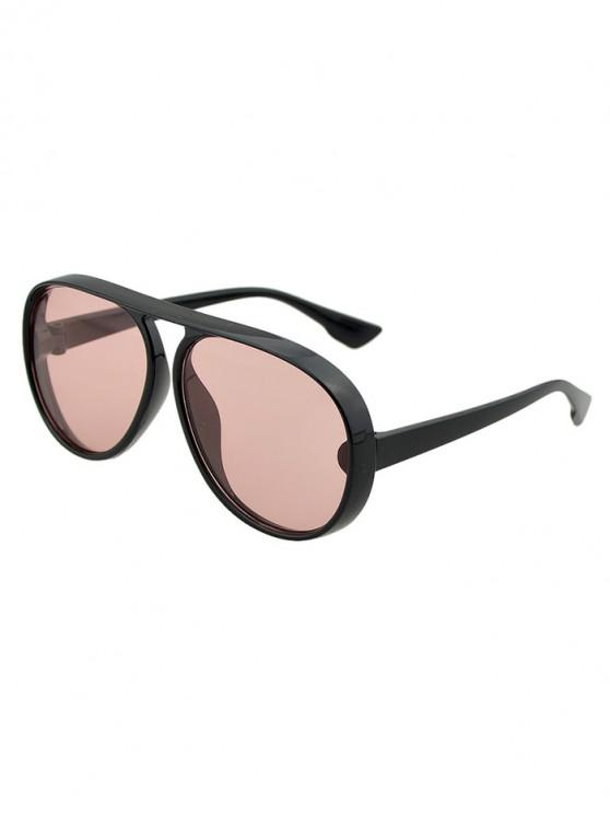 outfit Oversized Thick Rim Pilot Sunglasses - LIGHT PINK