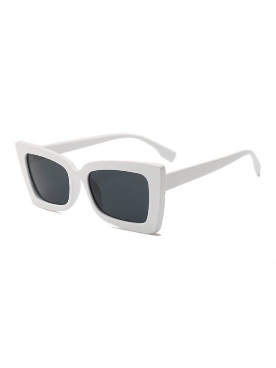 outfits Rectangle Wide Rim Sunglasses - WHITE REGULAR