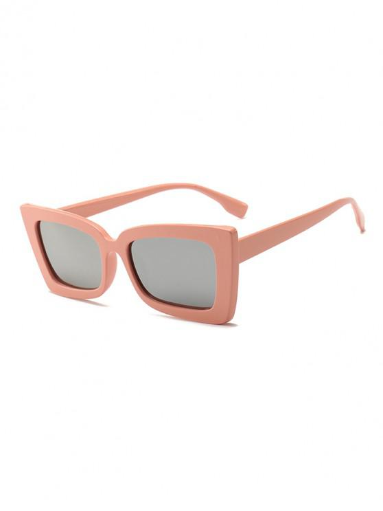 latest Rectangle Wide Rim Sunglasses - ORANGE PINK REGULAR