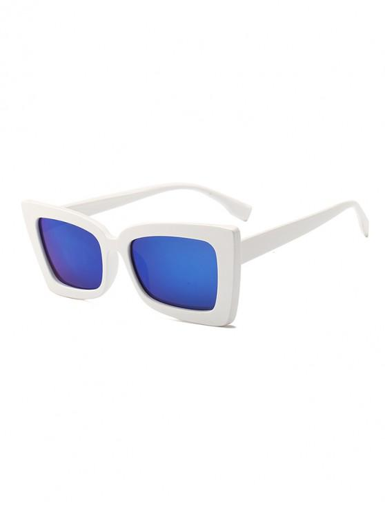 trendy Rectangle Wide Rim Sunglasses - COBALT BLUE REGULAR