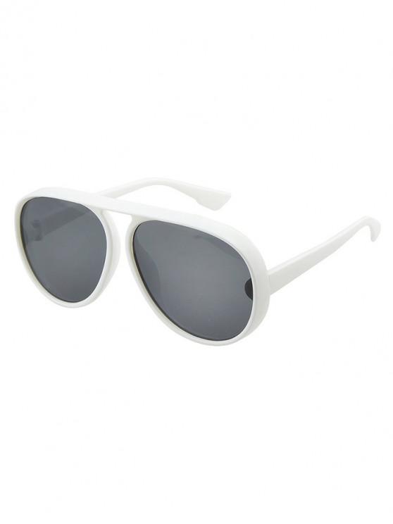 73819e6fc6ce NEW. Oversized Thick Rim Pilot Sunglasses - White. Flash sale