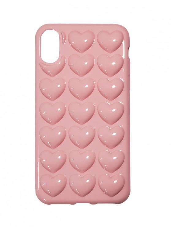 best Heart 3D Phone Case For IPhone X - ROSE