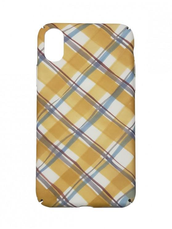 online Checkered Phone Case For IPhone X - GOLDENROD