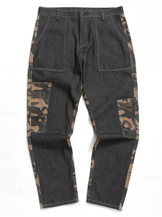 womens Camouflage Print Casual Jeans - MULTI 2XL