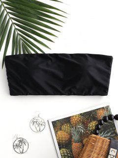ZAFUL Boning Side Padded Bandeau Bikini Top - Black M