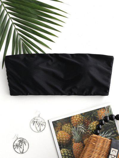 ZAFUL Boning Side Padded Bandeau Bikini Top - Black S
