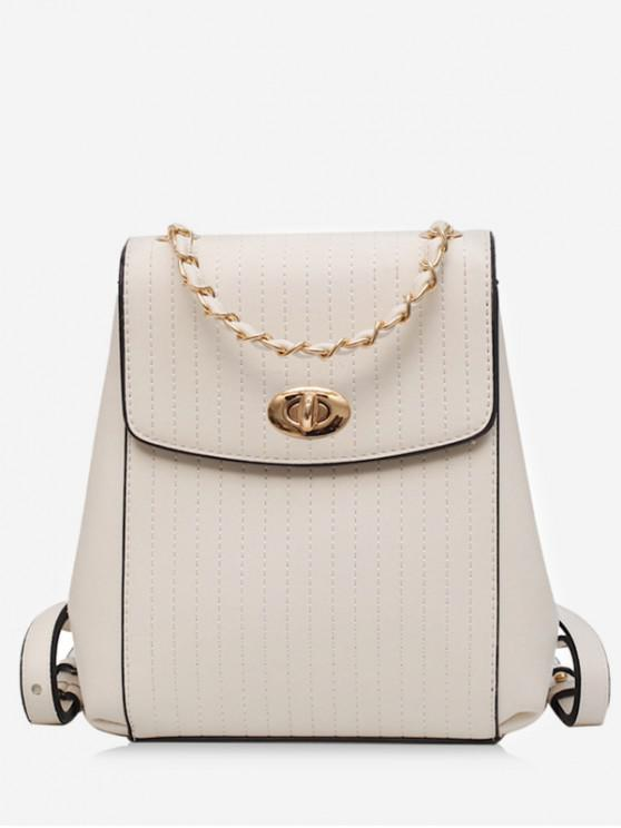 shops Chain Simple Style Backpack - WHITE