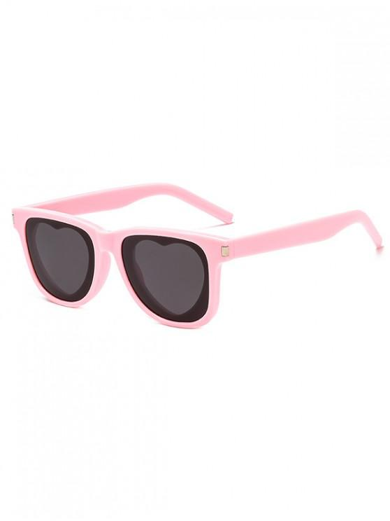 shop Heart Sun Protection Sunglasses - LIGHT PINK REGULAR