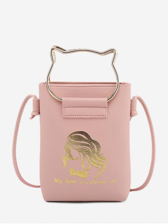 hot Cat Ears Shape Cash Shoulder Bag - PINK