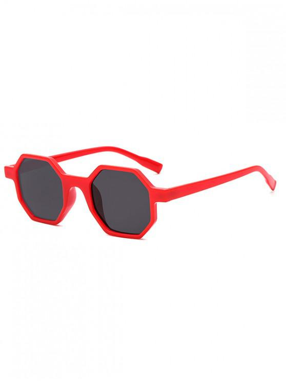 outfits Outdoor Anti UV Irregular Sunglasses - LAVA RED REGULAR