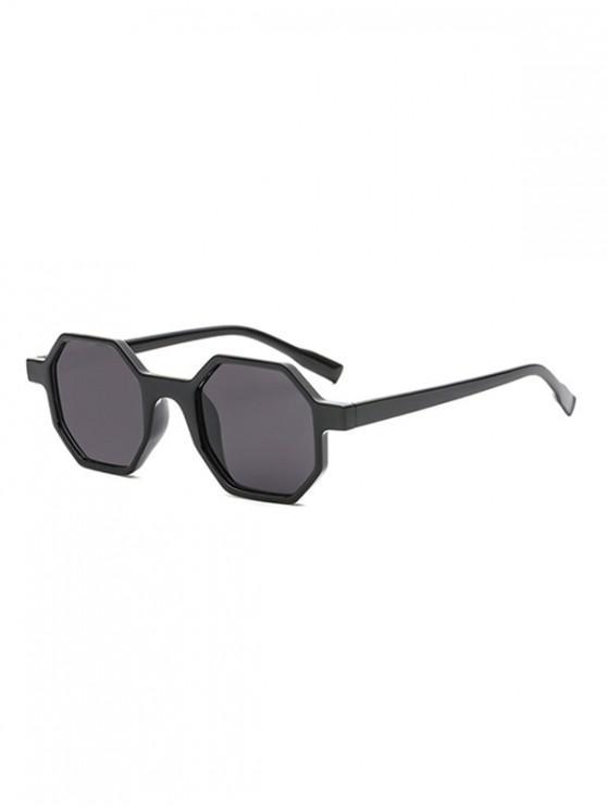 shops Outdoor Anti UV Irregular Sunglasses - BLACK REGULAR