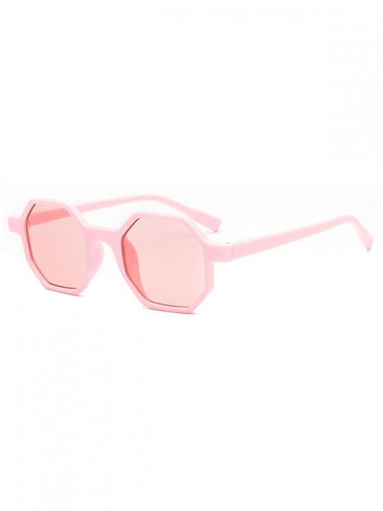 trendy Outdoor Anti UV Irregular Sunglasses - PIG PINK REGULAR