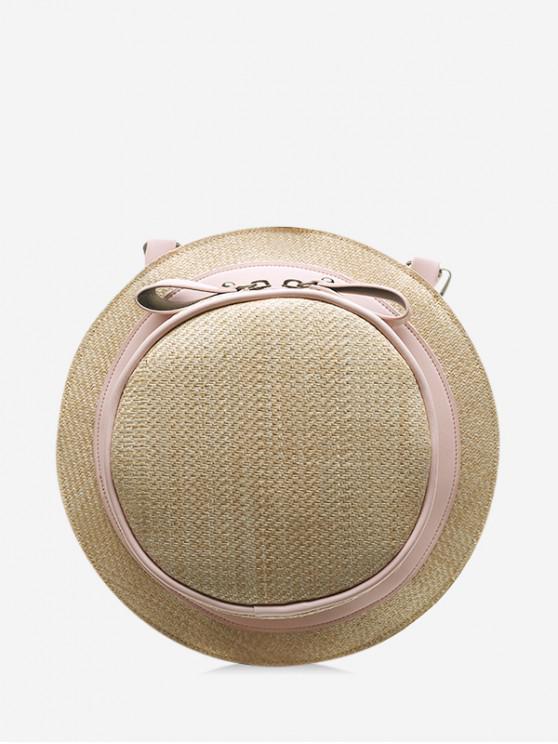 sale Straw Hat Shape Crossbody Bag - HOT PINK