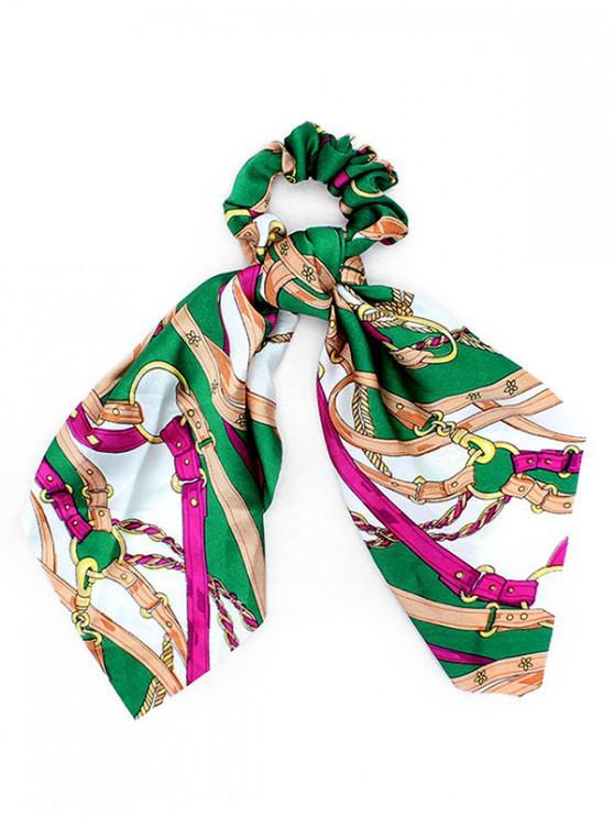 latest Big Bowknot Cloth Print Scrunchies - CLOVER GREEN