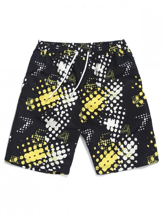 Shorts de playa con estampado de lunares - Multicolor XL