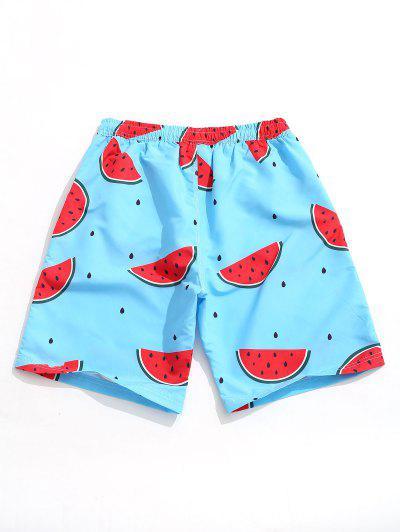 a7b7edda5d ... Watermelon Print Casual Beach Shorts - Dodger Blue M