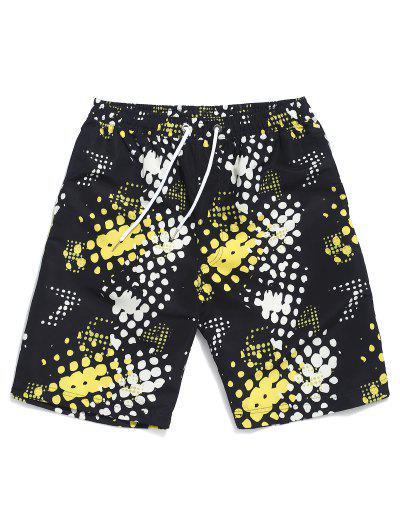 Drawstring Dots Print Beach Shorts