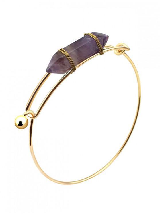 fashion Natural Stone Bullet Bracelet - PURPLE