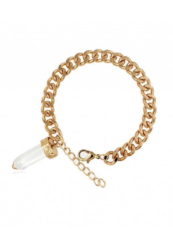 Bracelet à Chaîne en Pierre Naturelle - Blanc