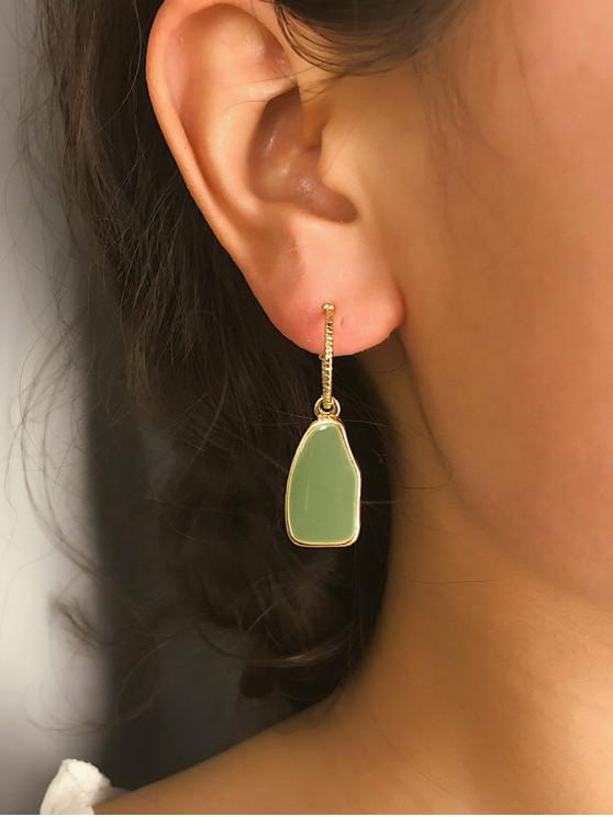 women's Irregular Dangle Earrings - GREEN