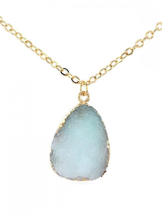 latest Water Drop Natural Stone Necklace - LIGHT BLUE