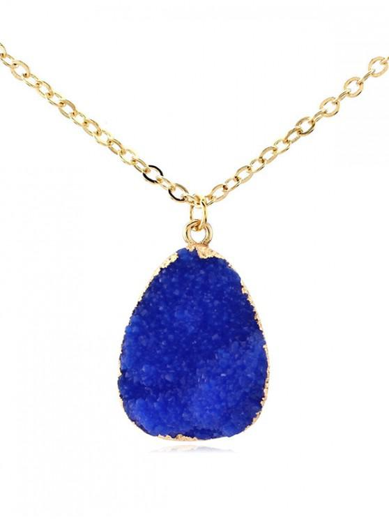 outfits Water Drop Natural Stone Necklace - BLUE