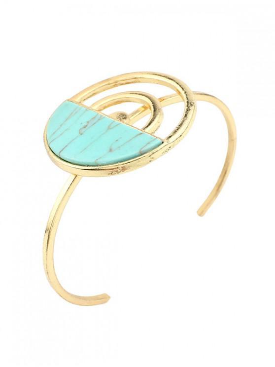 new Geometric Turquoise Open Cuff Bracelet - MULTI-B
