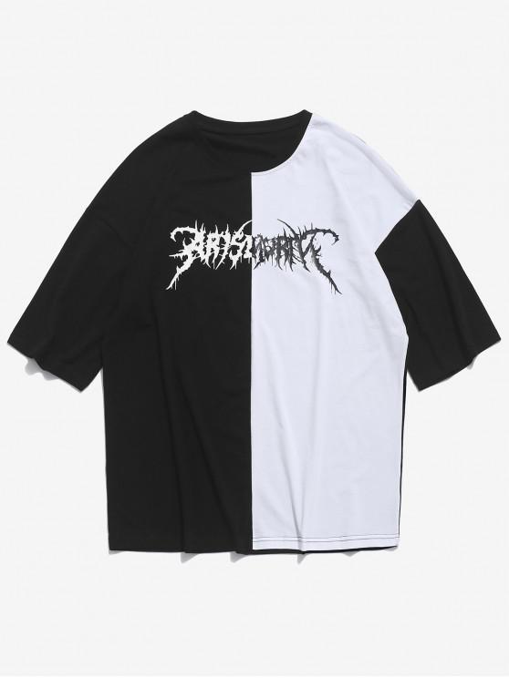 T-shirt à deux tons à épaules dénudées - Blanc L
