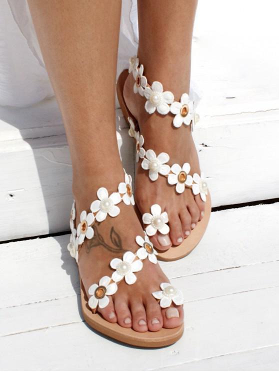 womens Casual Flower Pattern Summer Sandals - DEEP BROWN EU 35