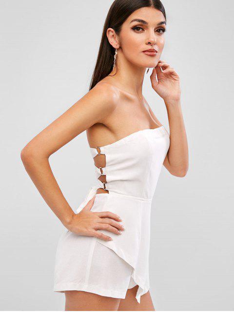 ZAFUL espalda con cordones bandeau mameluco - Blanco L Mobile