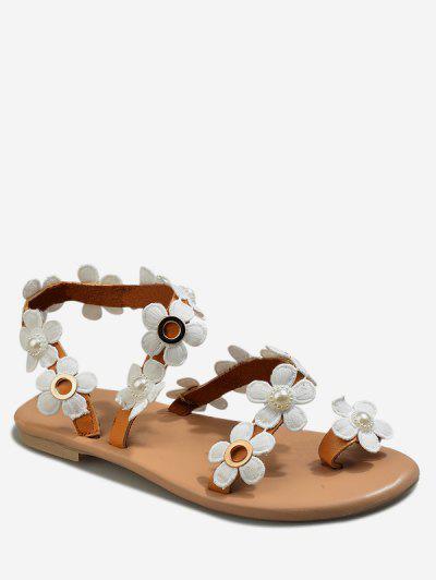 8e53b8867ceb Casual Flower Pattern Summer Sandals - Deep Brown Eu 42 ...
