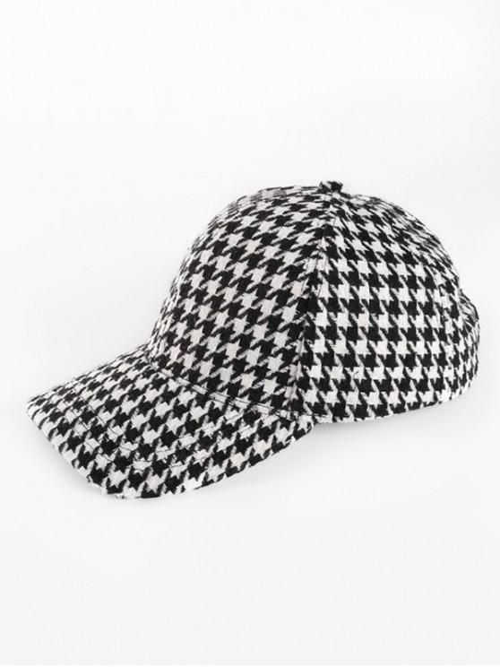 trendy Checked Baseball Cap - MULTI-B