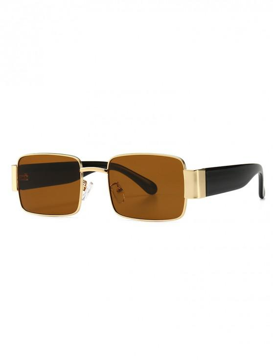 outfit Punk Style Square Design Sunglasses - BROWN
