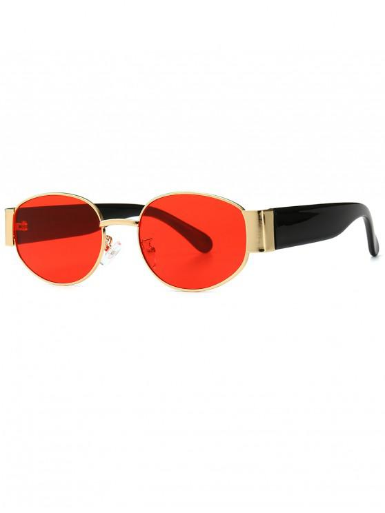 shops Punk Oval Shape Design Sunglasses - RED
