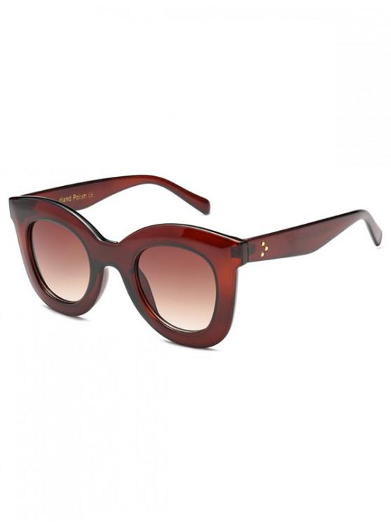 sale Wide Rim Anti UV Sunglasses - CHESTNUT RED REGULAR