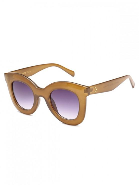 affordable Wide Rim Anti UV Sunglasses - TAN REGULAR