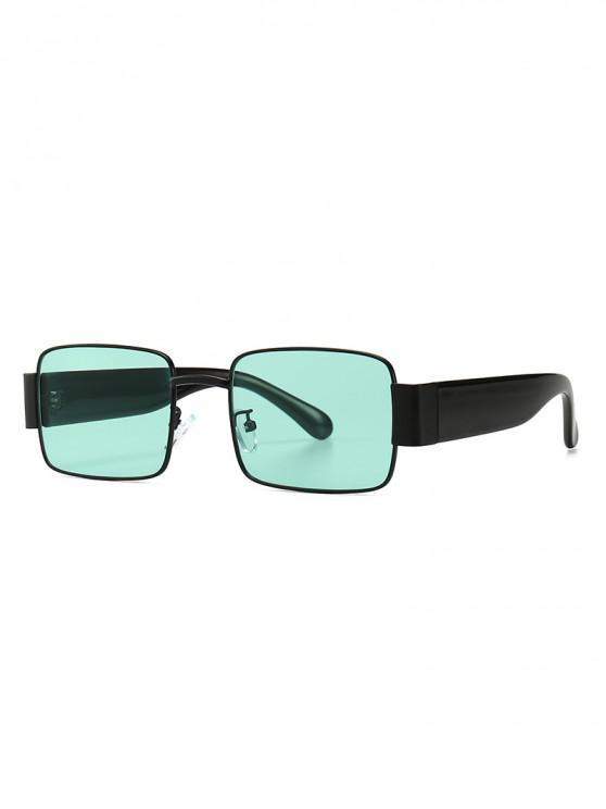 ladies Punk Style Square Design Sunglasses - LIGHT AQUAMARINE
