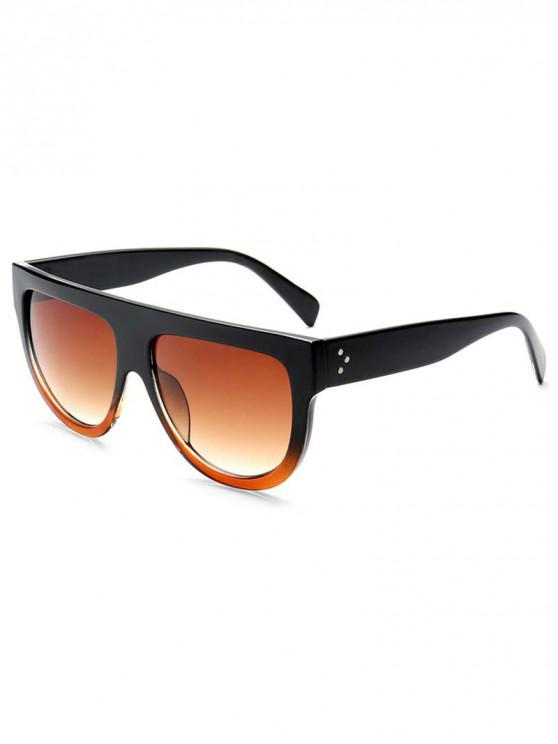 outfits European Style Oversize Sunglasses - BROWN